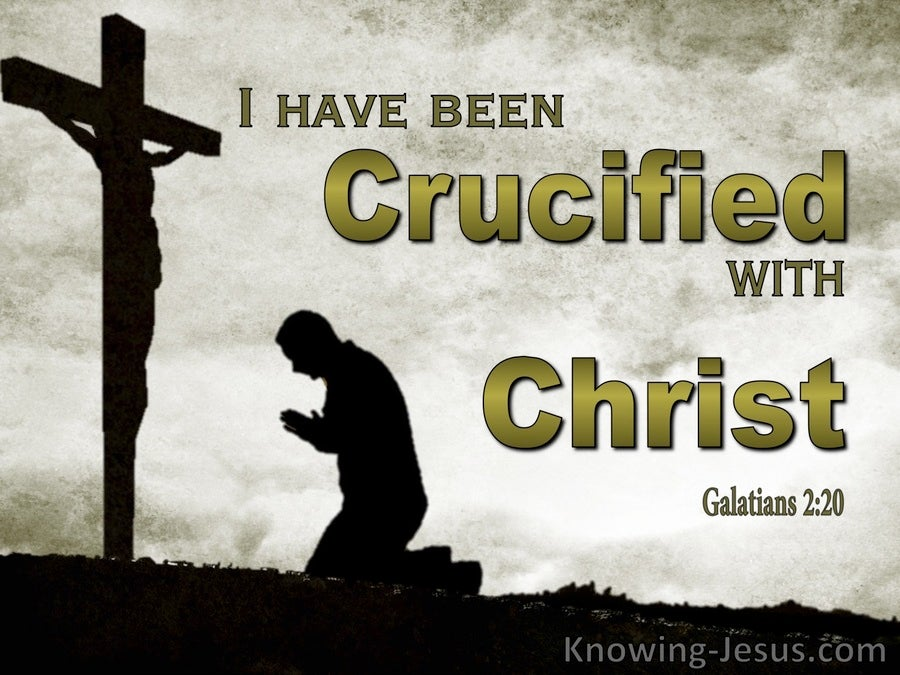 Galatians 2:20 Crucified With Christ (gray)