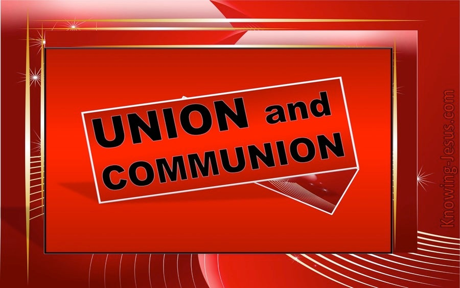 Galatians 3:27 Union and Communion With Christ (red)