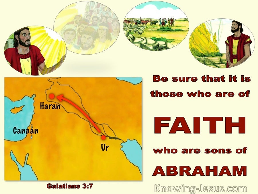 Galatians 3:7 Those Of Faith Are Sons Of Abraham (yellow)
