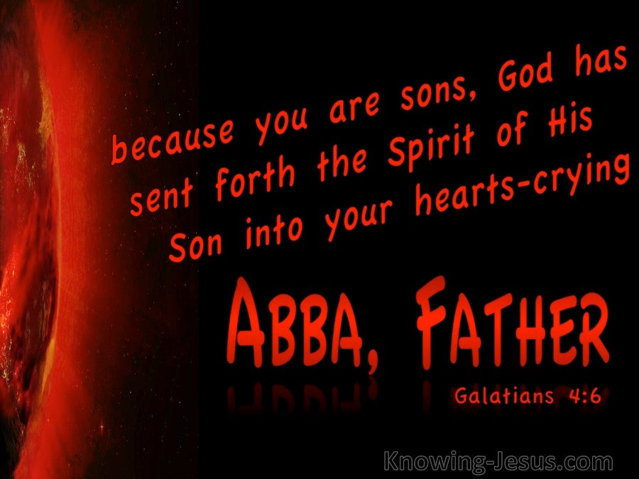 Galatians 4:6 Abba Father (red)