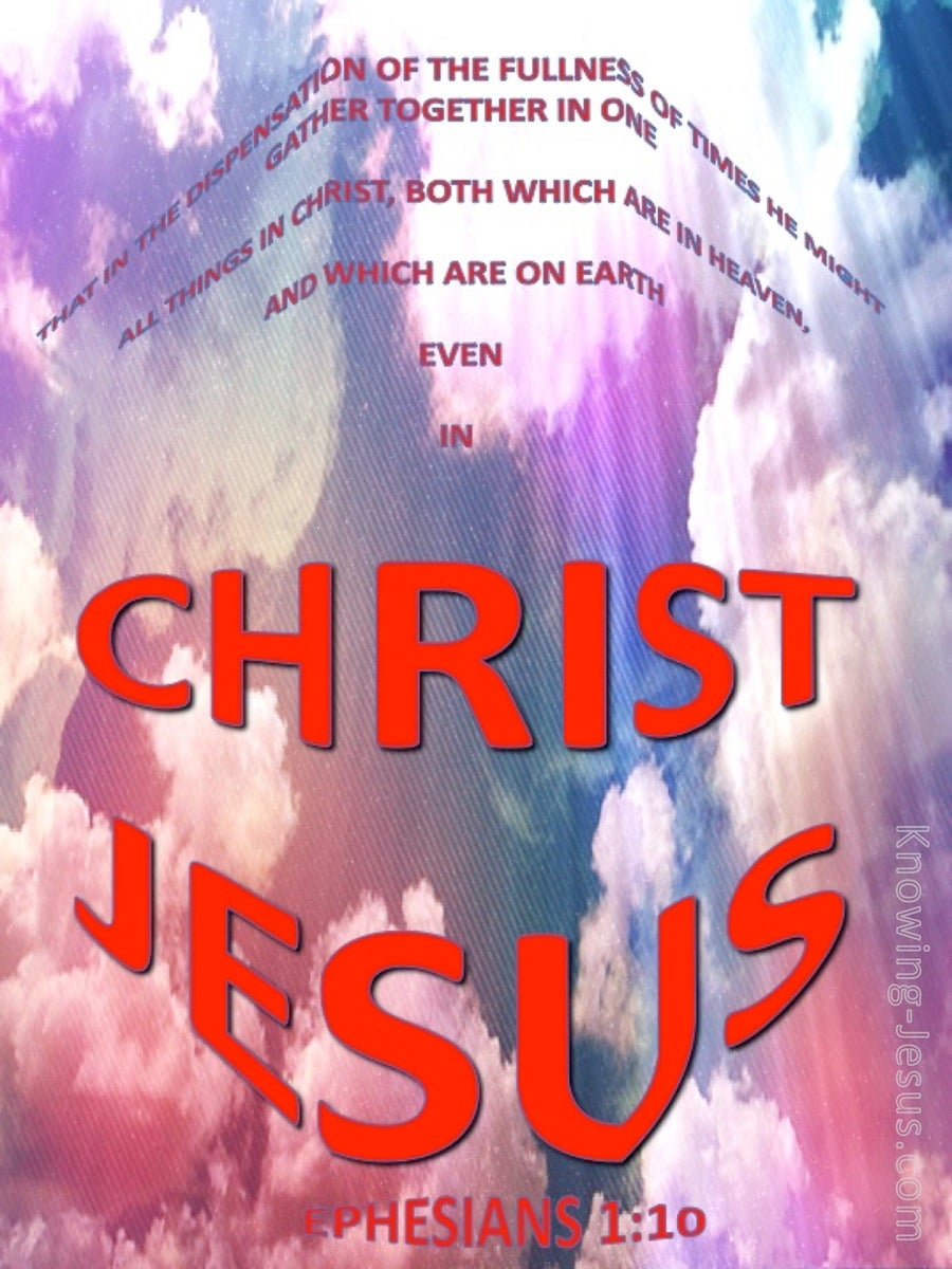 Ephesians 1:10 All Gathered In Christ Jesus (red)