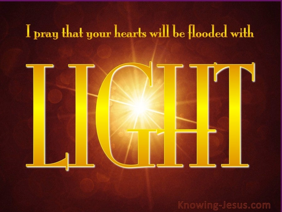 Ephesians 1:18 May Hearts Be Flooded With Light (yellow)