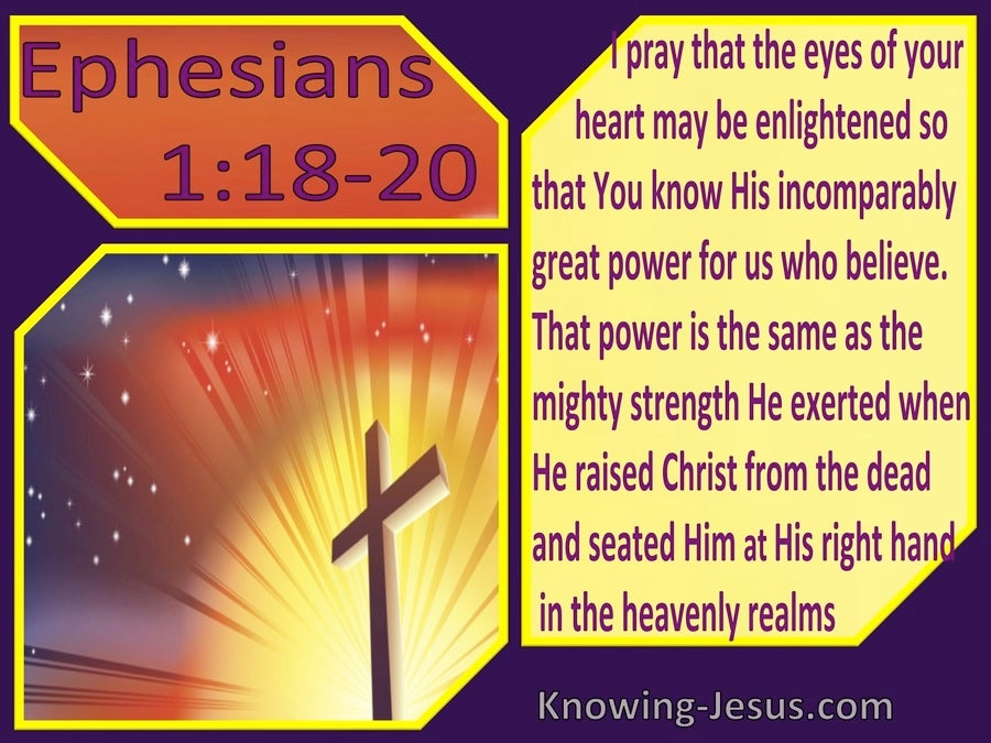 Ephesians 1:18,19,20 May The Eyes If You Heart Be Enlightened (windows)11:25