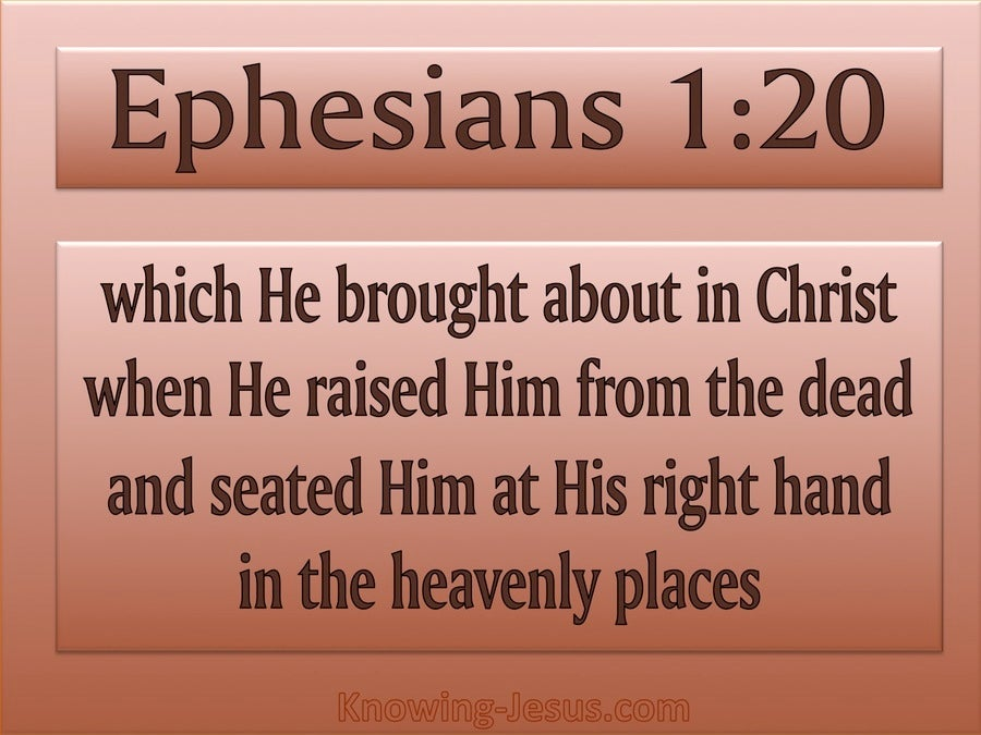 Ephesians 1:20 God Raised Him From The Dead (pink)