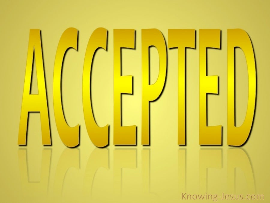 Ephesians 1:6 Accepted (gold)