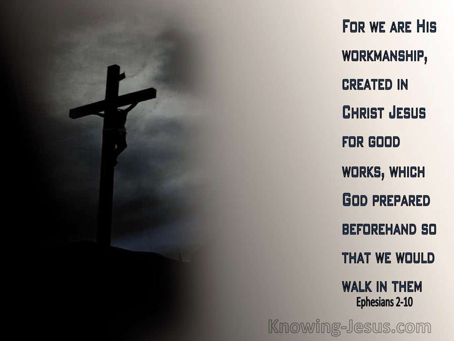 Ephesians 2:10 We Are His Workmanship (gray)