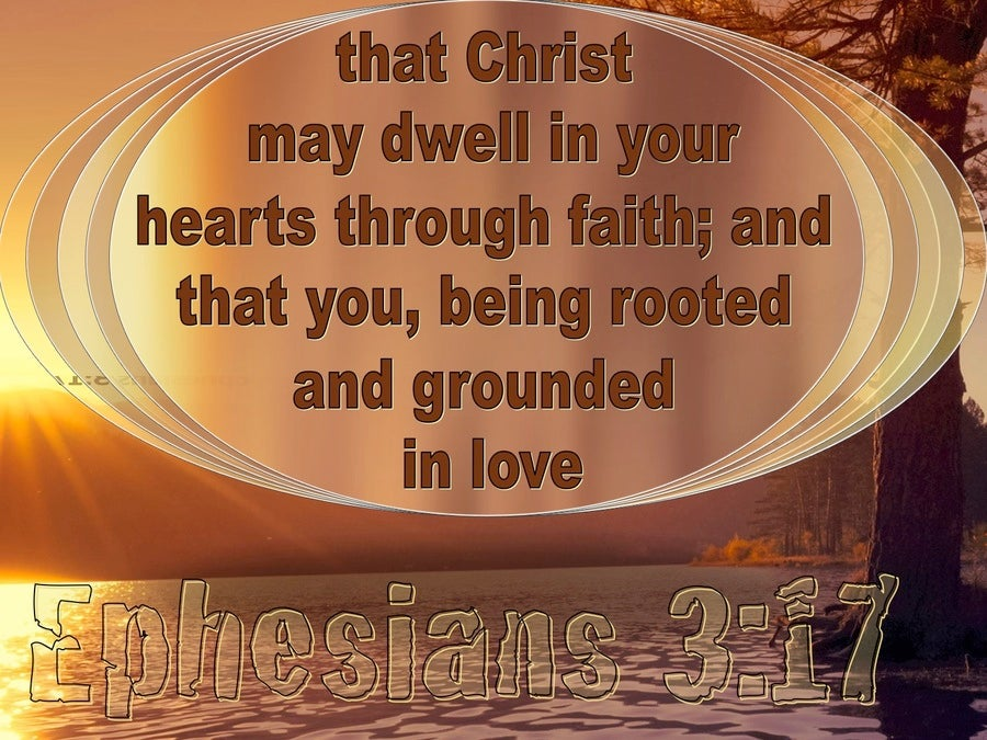 Ephesians 3:17 That Christ May Dwell In You Hearts Through Faith (gold)