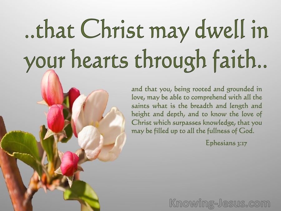 Ephesians 3:17 Christ Dwell In Your Hearts By Faith (gray)
