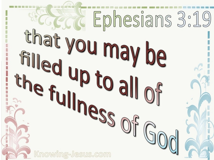 Ephesians 3:19 Filled To All The Fullness Of God (beige)