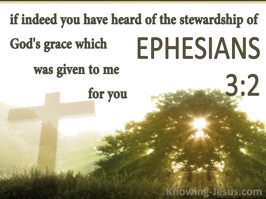 Ephesians 3:2 The Stewardship Of Gods Grace (white)