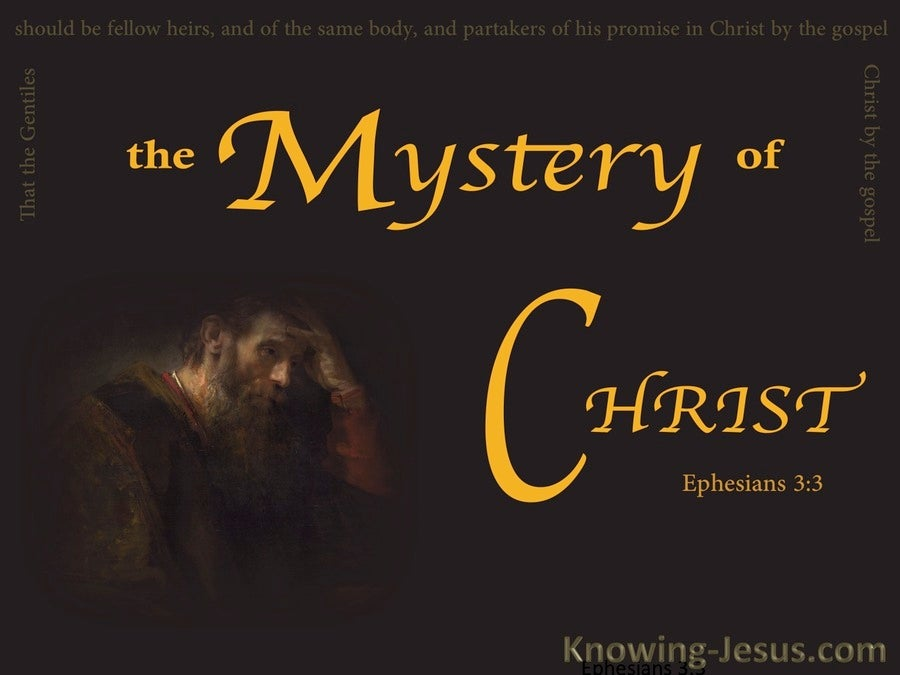 Ephesians 3:3 By Revelation Was Made Known The Mystery (brown)