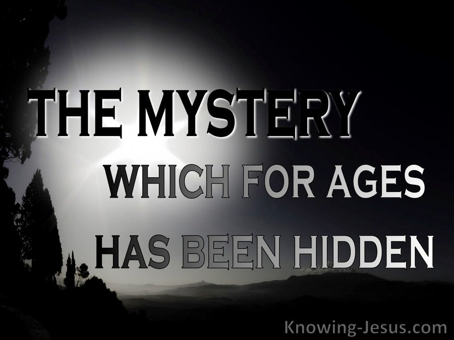 Ephesians 3:9 Administration Of The Mystery (black)