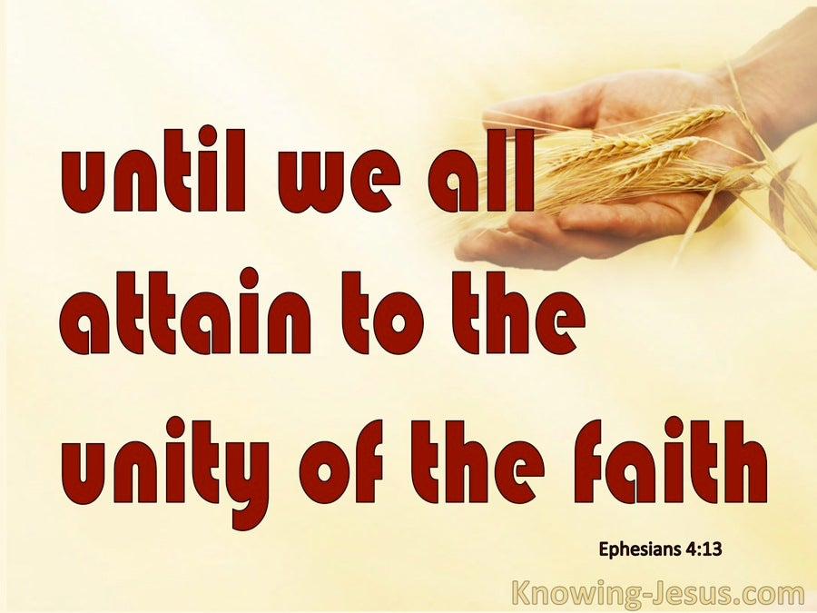 Ephesians 4:13 The Unity Of The Faith (red)