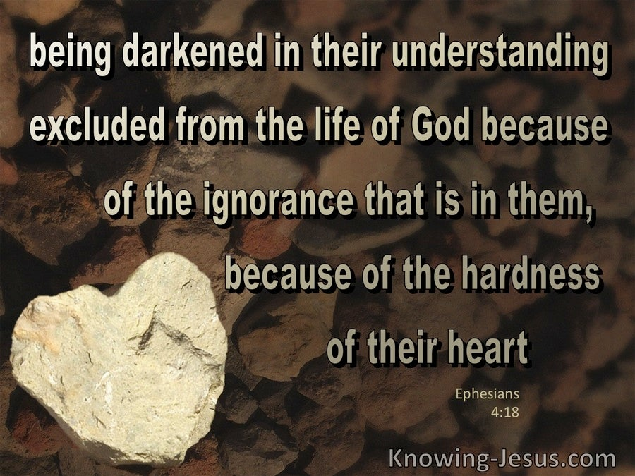 Ephesians 4:18 They Are Darkened In Their Understanding (brown)