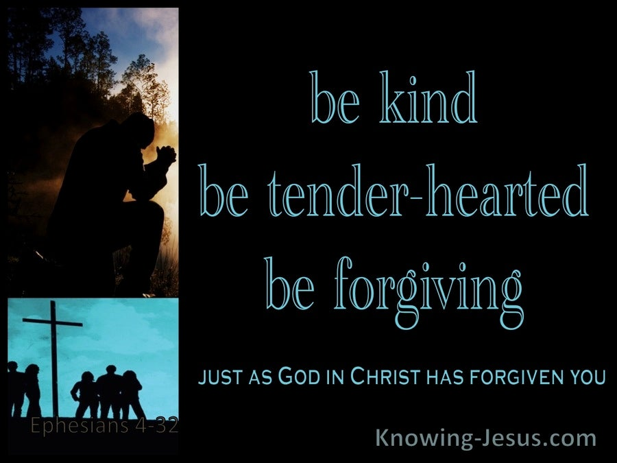 Ephesians 4:32 Be Kind, Tender:hearted, Forgiving Each Other (aqua)