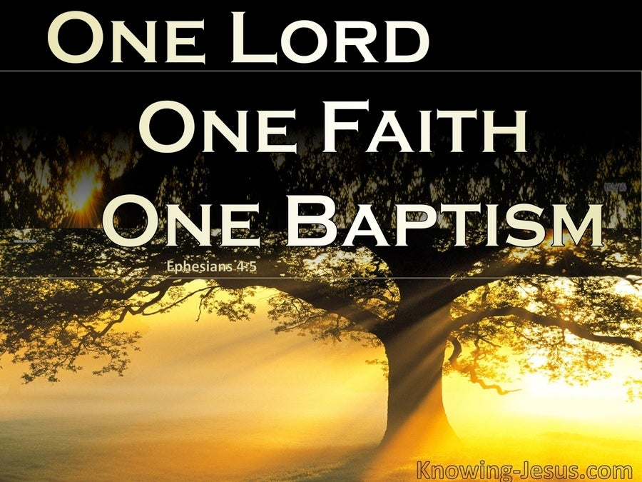 Ephesians 4:5 One Lord, One Faith, One Baptism (brown)