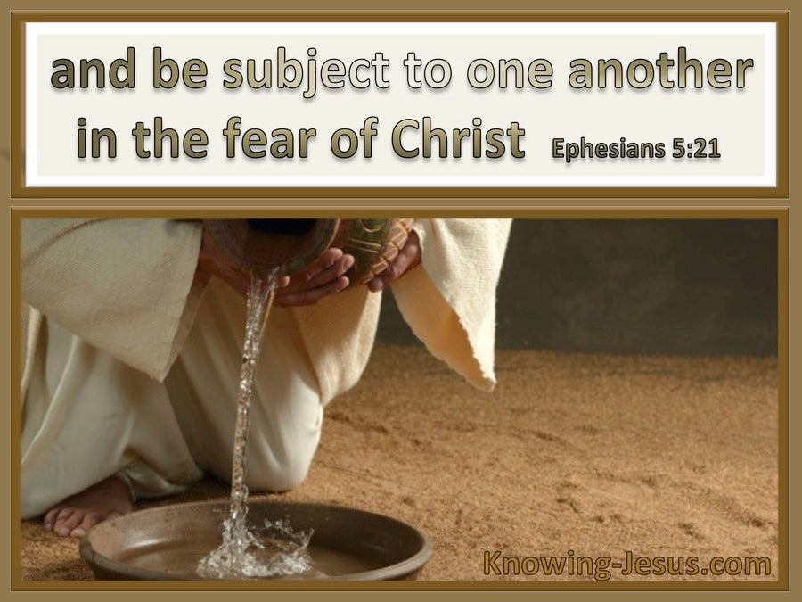 Ephesians 5:21 Be Subject To One Another (brown)
