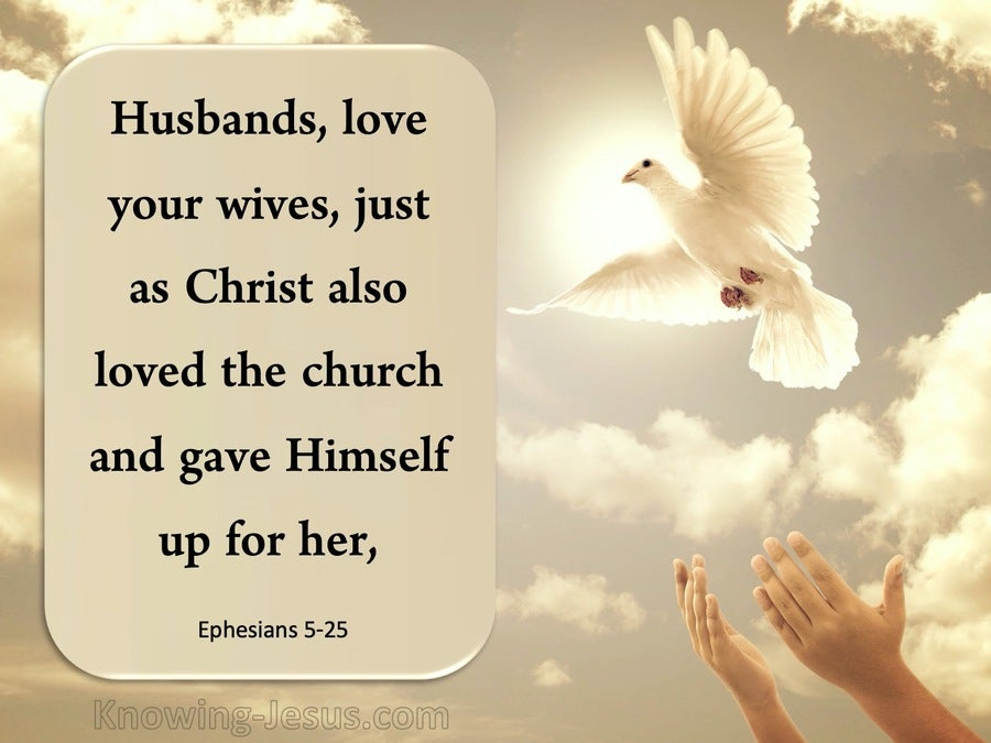 Ephesians 5:25 Husbands, Love Your Wives (brown)