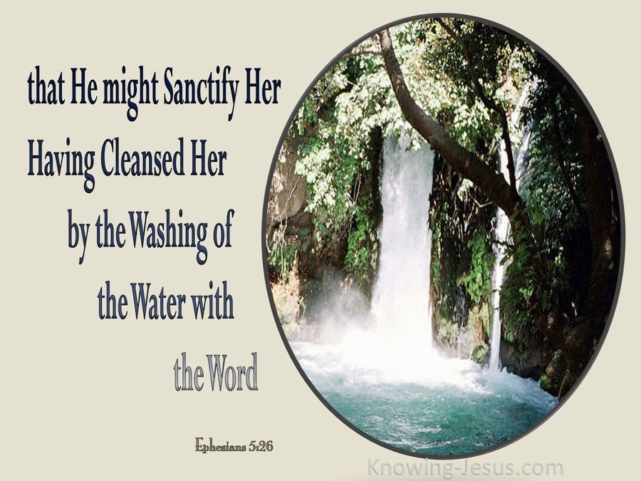 Ephesians 5:26 Washing Of The Water With the Word (beige)
