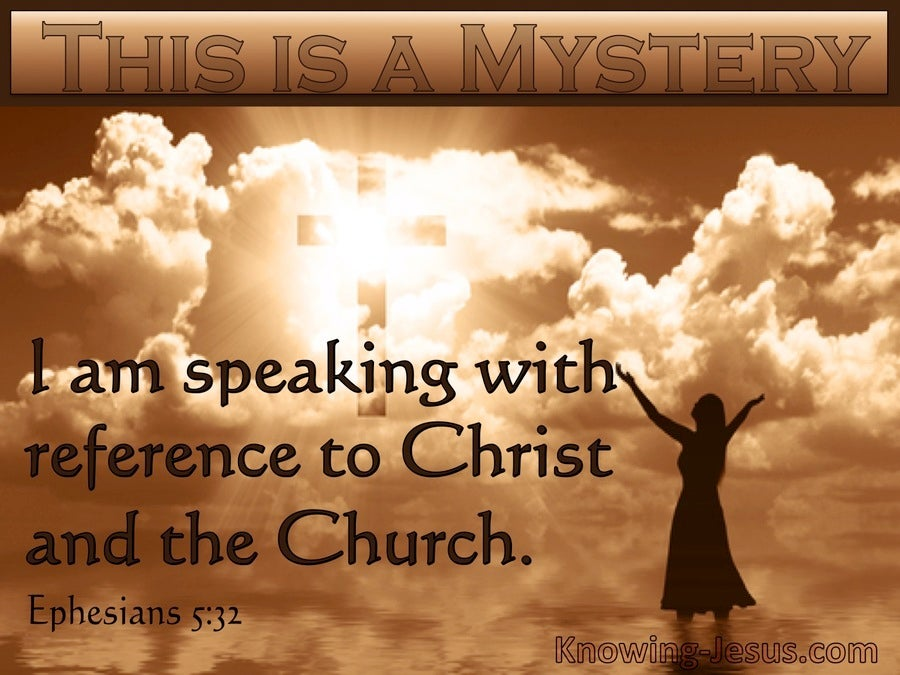 Ephesians 5:32 The Mystery Speaks Of Christ And The Church (beige)
