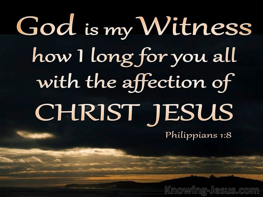 Philippians 1:8 God Is My Witness (black)