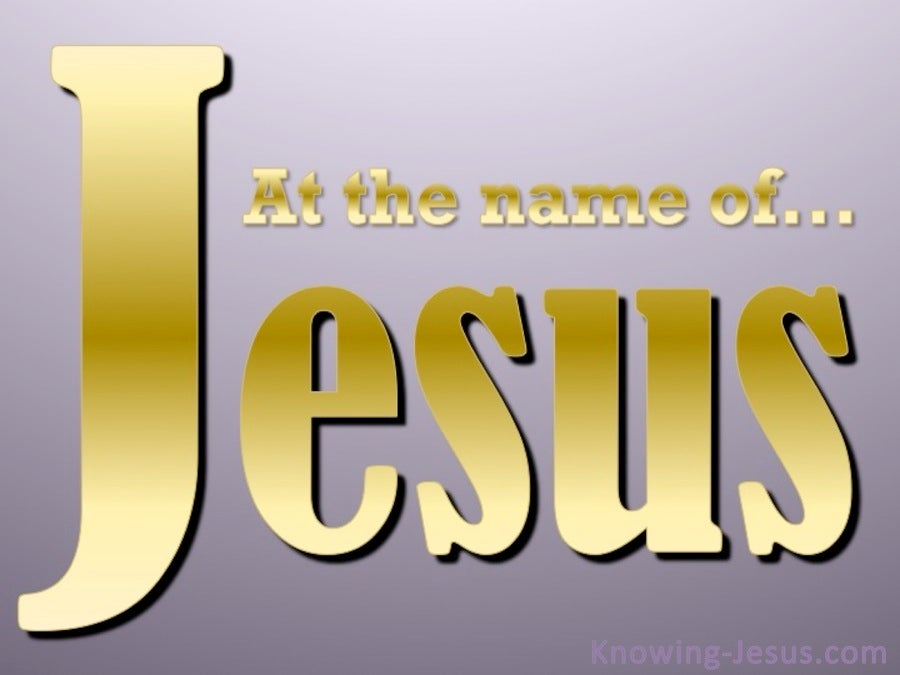 Philippians 2:10 The Name Of Jesus (gold)