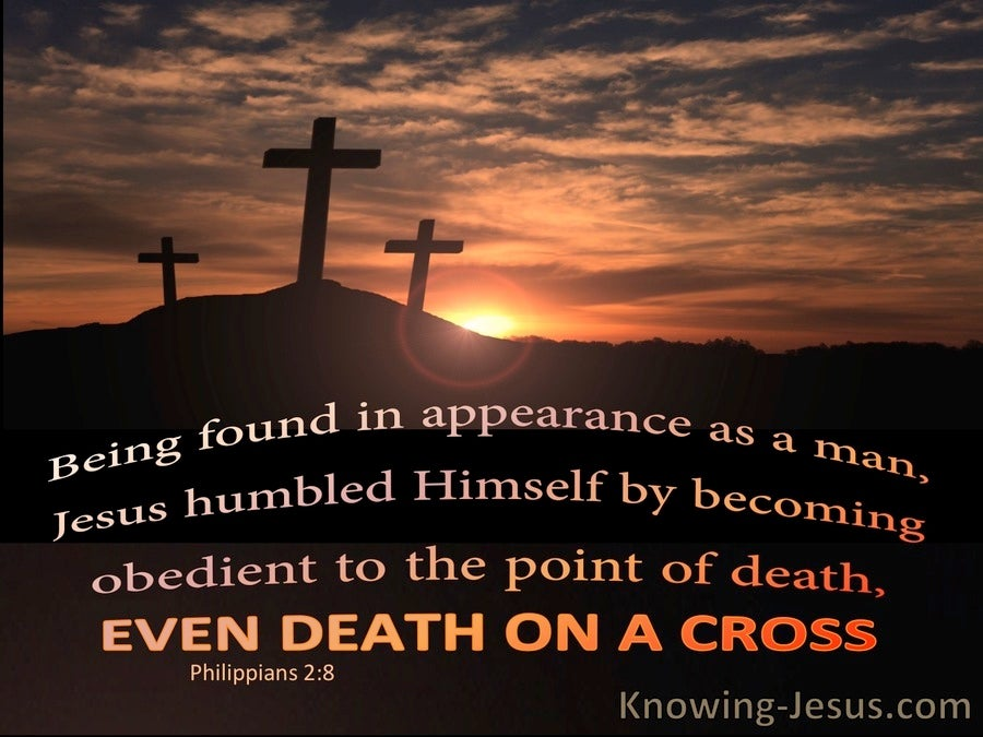 Philippians 2:8 Obedient, Even To Death On The Cross (orange)
