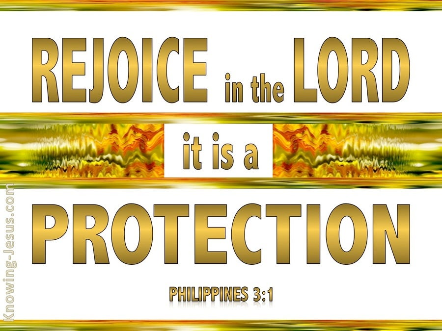 Philippians 3:1 Rejoice In The Lord (gold)