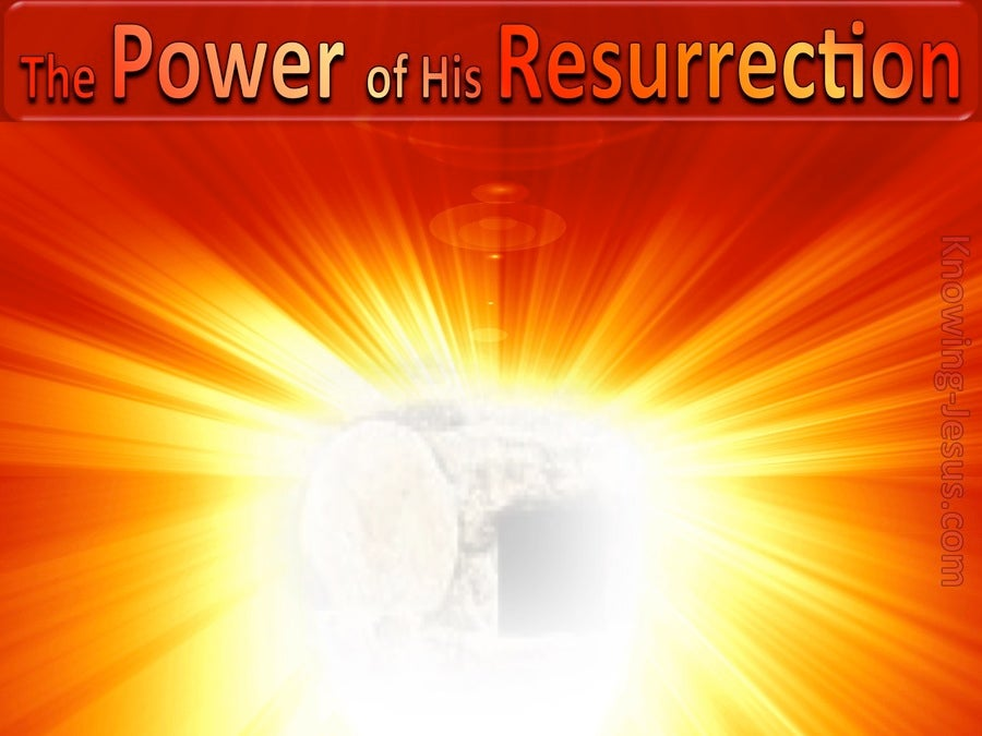 The Power of His Resurrection (devotional) (red)