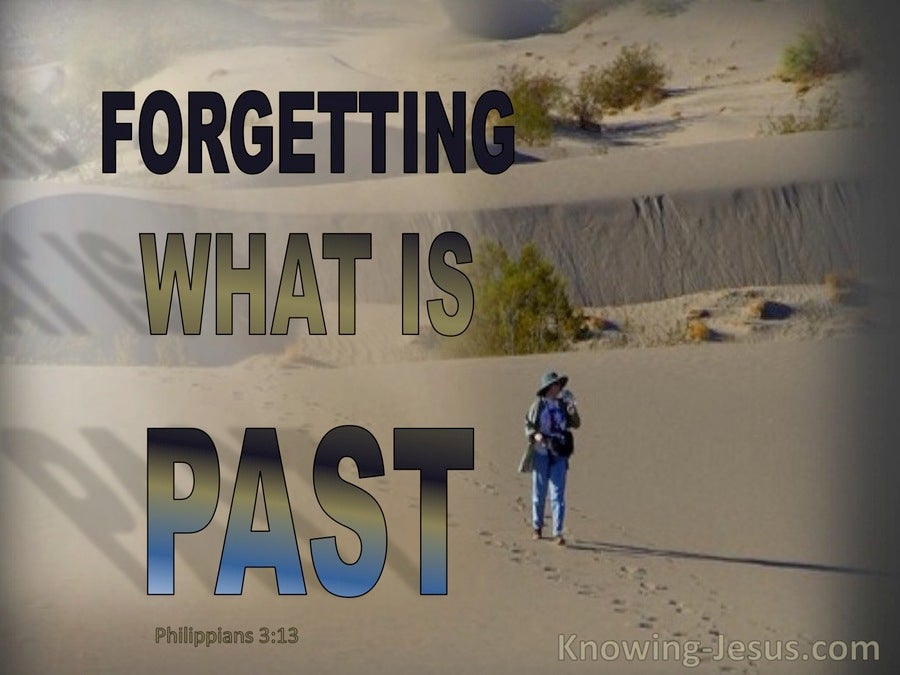 Philippians 3:13 Forgetting The Past I Press On (beige)