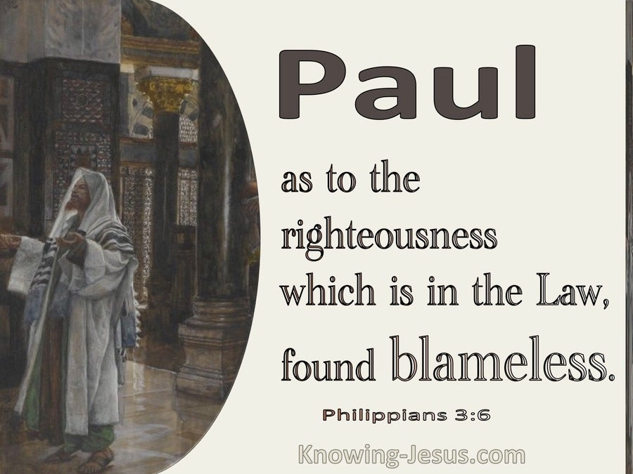 Philippians 3:6 As To Righteousness In The Law Blameless (cream)