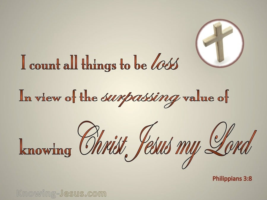 Philippians 3:8 I Count All Things Loss (beige)