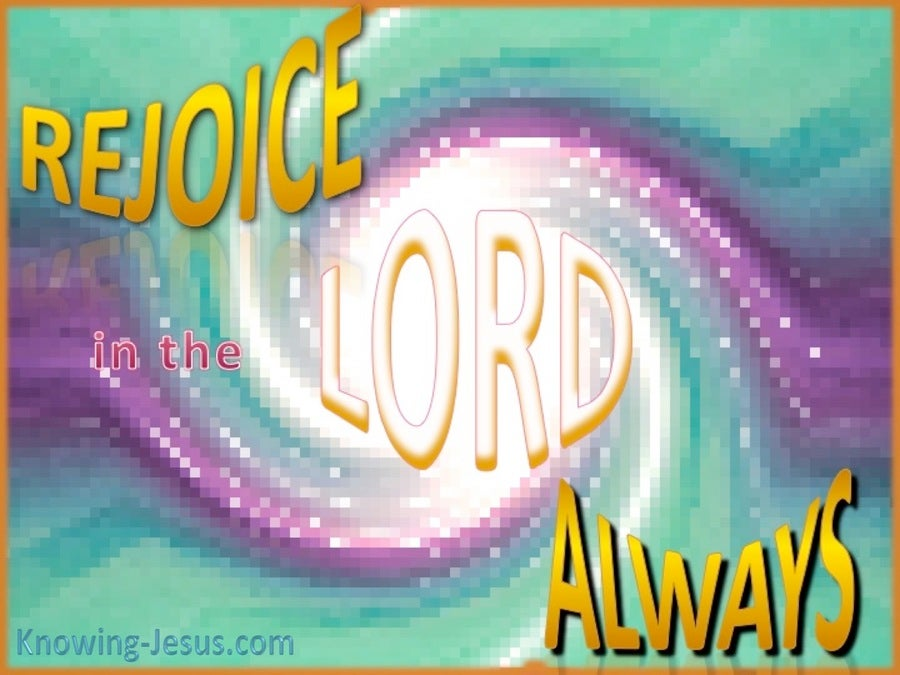 Philippians 4:4 Rejoice In The Lord (gold)