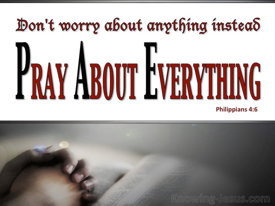 Philippians 4:6 Do Not Worry About Anything (gray)