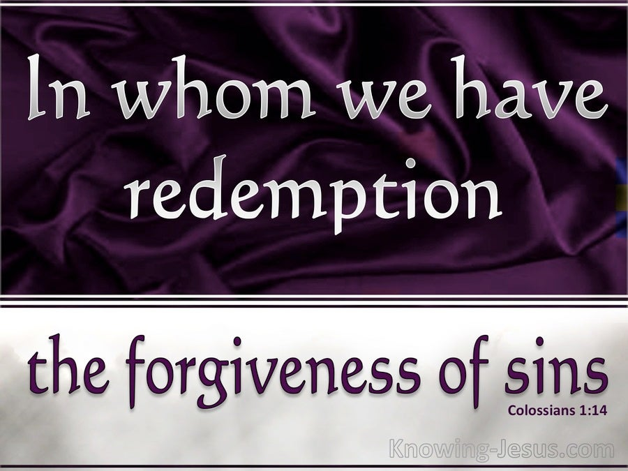 sin forgiveness and redemption Search these great christian quotes about redemption from notable authors.