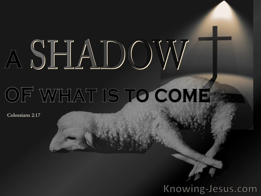 Colossians 2:17 A Shadow Of The Substance To Come (gray