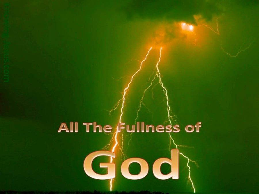All The Fullness Of God (devotional) (green)