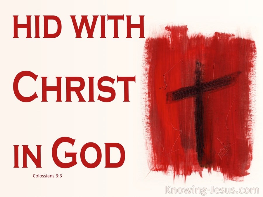 Colossians 3:3 Hid with Christ in God (white)