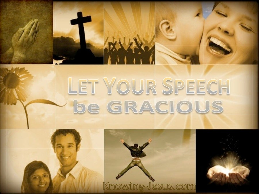 Colossians 4:6 Let Your Speech Be Gracious (brown)