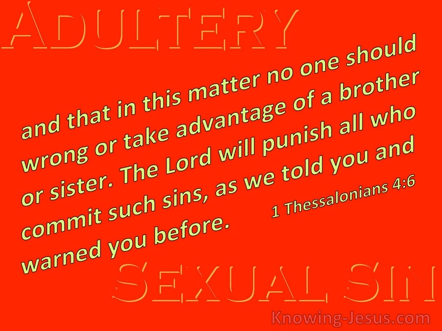 1 Thessalonians 4:6 That No Man Transgress And Defraud His Brother (red)