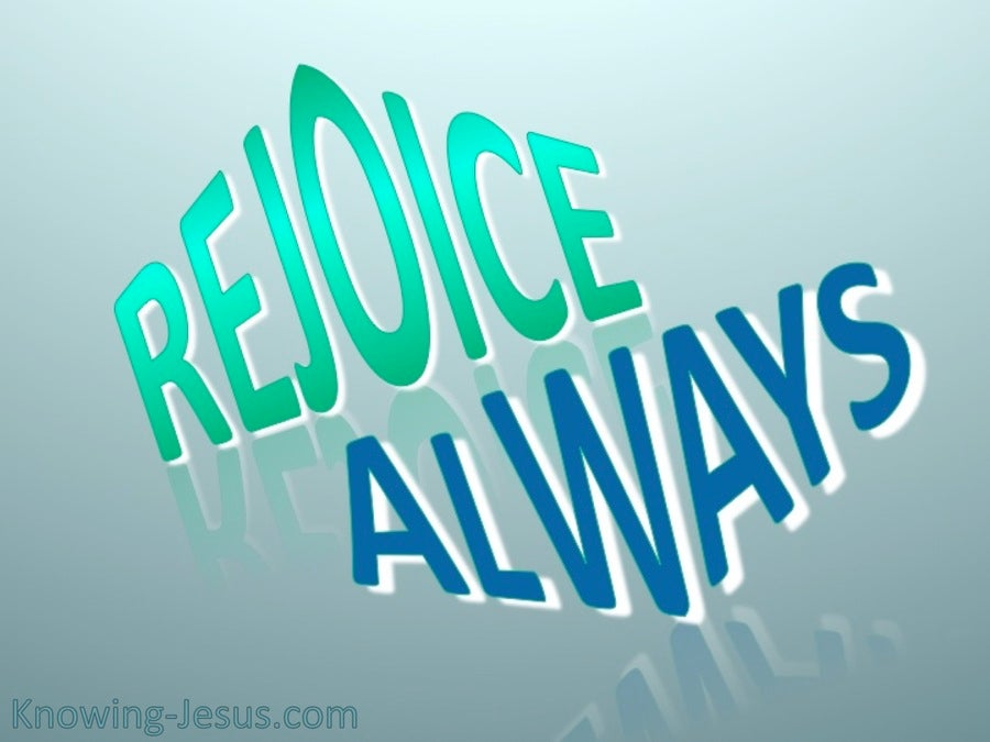 1 Thessalonians 5:16 Rejoice Always (blue)