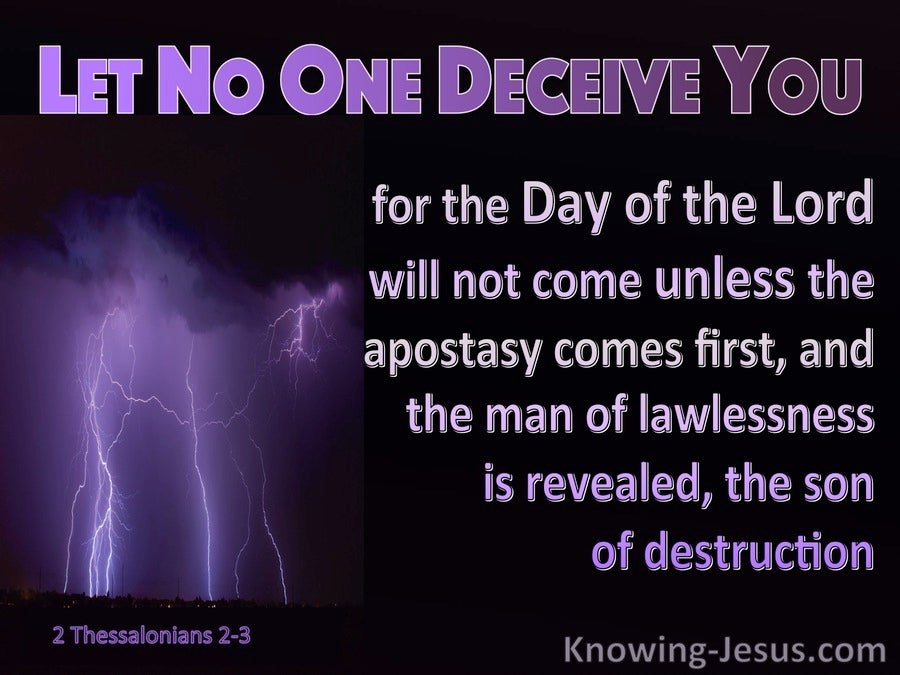 2 Thessalonians 2:3 The Day Of The Lord (purple)