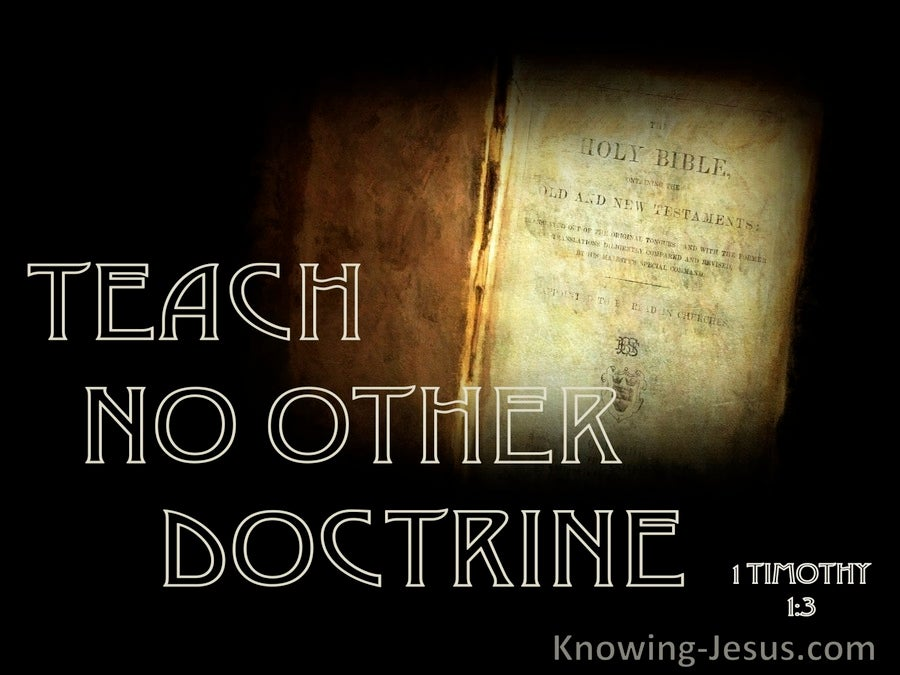 1 Timothy 1:3 Teach No Other Doctrine (black)