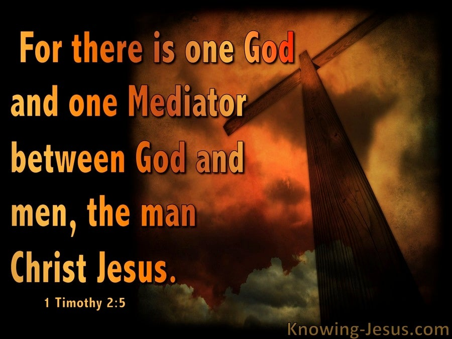 1 Timothy 2:5 One Mediator Between God And Man (brown)