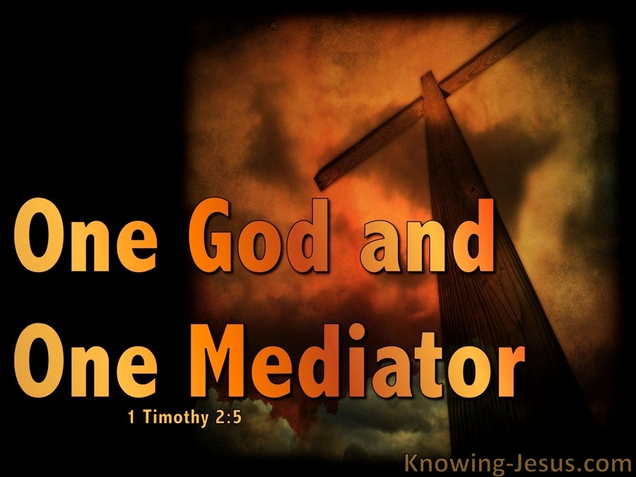 1 Timothy 2:5 One Mediator Between God And Man (orange)