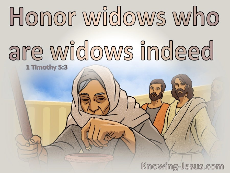 1 Timothy 5:3 Honour Widows Who Are Widows Indeed (pink)