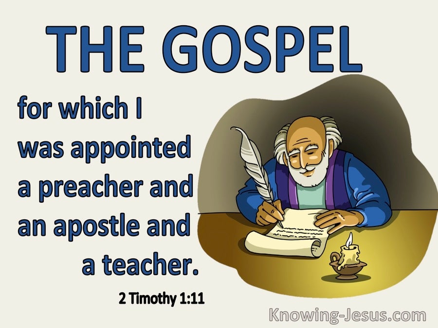 2 Timothy 1:11 Appointed Preacher  Apostle And Teacher (blue)
