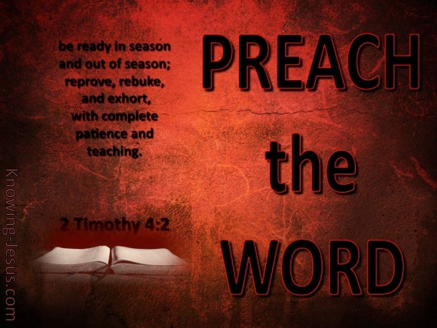 2 Timothy 4 2 Preach The Word Red