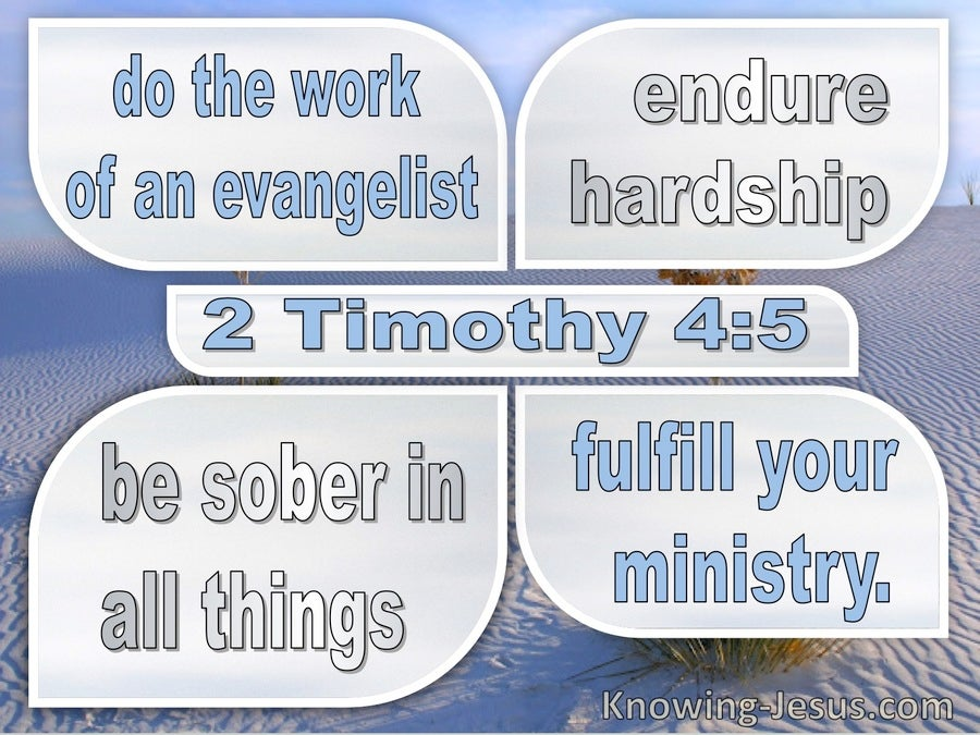 2 Timothy 4:5 Fulfil Your Ministry (blue)