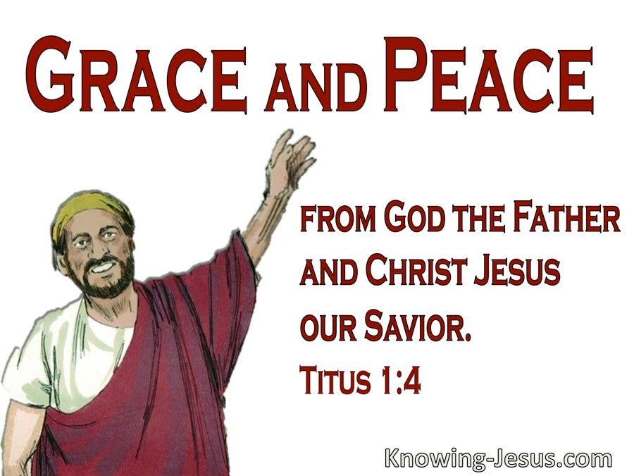 Titus 1:4 Paul True Son In The Faith (red)